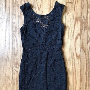 Express Bodycon Lace Dress Cut Out XS